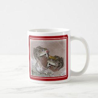 Frog Prince & Kissing Frog Basic White Mug