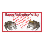 Frog Prince & Kissing Frog Valentine Photo Frame Personalised Photo Card