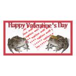 Frog Prince & Kissing Frog Valentine Photo Frame Photo Card
