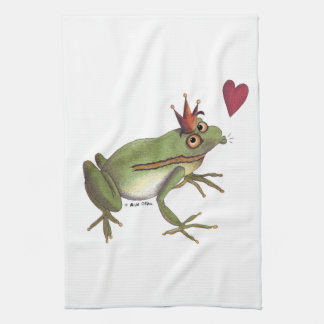 Frog Prince kitchen towel