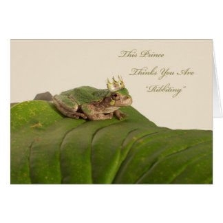 Frog Prince, Marriage Proposal Greeting Card
