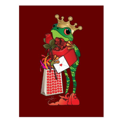 Frog Prince of Hearts Postcard