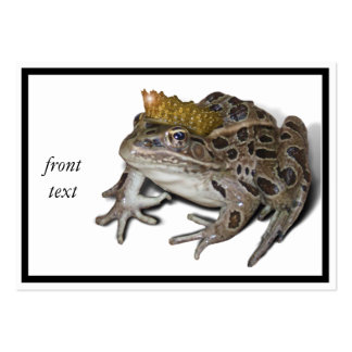 Frog Prince Pack Of Chubby Business Cards
