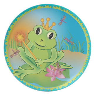 Frog Prince Party Plate