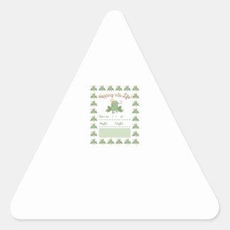 Frog Prince Pregnancy Announcement Triangle Sticker