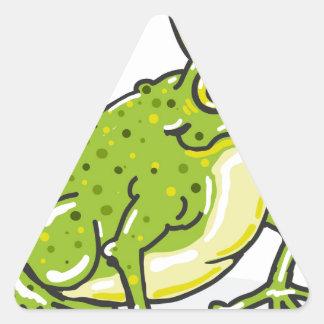Frog Prince Princess Sketch Triangle Sticker