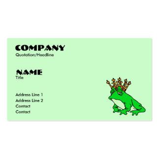 Frog Prince Profile/Business Card