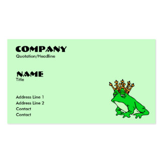 Frog Prince Profile/Business Card Pack Of Standard Business Cards