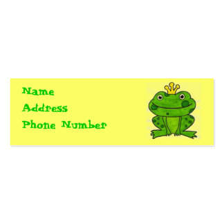 Frog Prince Profile Card Pack Of Skinny Business Cards