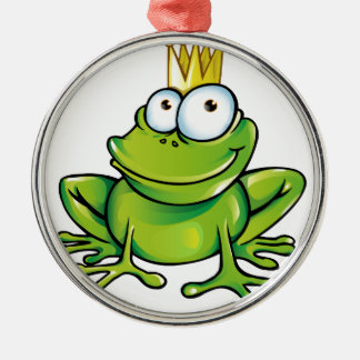 frog prince Silver-Colored round decoration