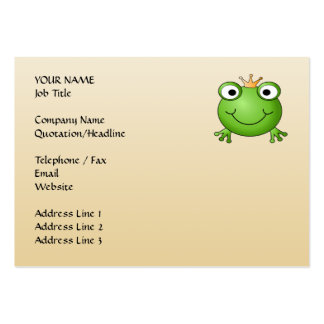 Frog Prince Smiling Frog with a Crown Business Card Template