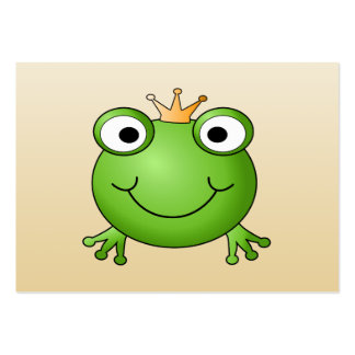 Frog Prince Smiling Frog with a Crown Business Card Templates