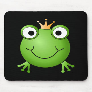Frog Prince. Smiling Frog with a Crown. Mouse Mat