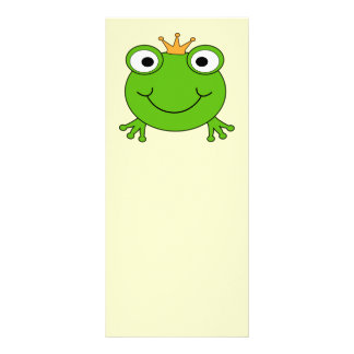 Frog Prince. Smiling Frog with a Crown. Customised Rack Card