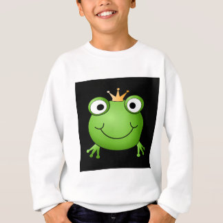 Frog Prince. Smiling Frog with a Crown. Sweatshirt