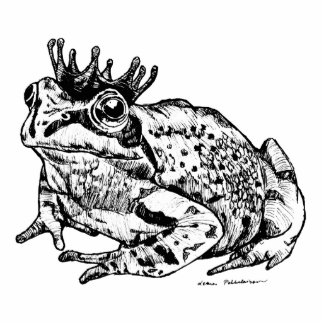 Frog Prince Standing Photo Sculpture
