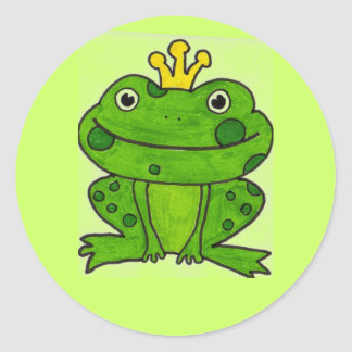 Frog prince sticker