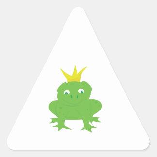 Frog Prince Triangle Sticker
