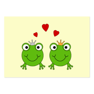 Frog Princess and Frog Prince with hearts Business Card Template