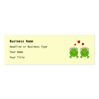 Frog Princess and Frog Prince, with hearts. Pack Of Skinny Business Cards