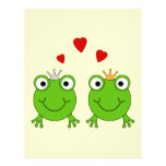 Frog Princess and Frog Prince, with hearts. Flyers