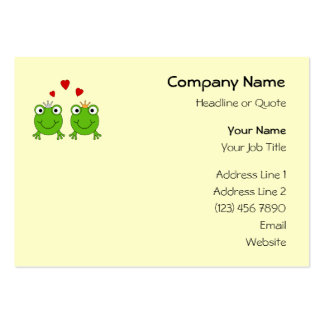Frog Princess and Frog Prince, with hearts. Pack Of Chubby Business Cards