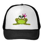 Frog Princess With Pink Crown Cartoon Cap