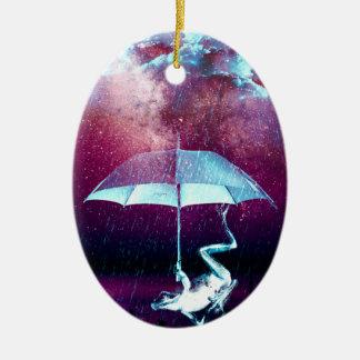 Frog Rain Umbrella Animals Ceramic Oval Decoration