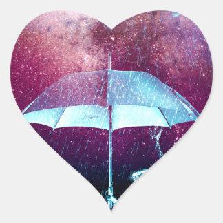 Frog Rain Umbrella Animals Heart Sticker