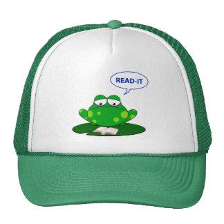 Frog read it cap