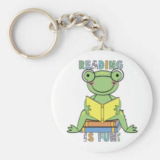 Frog Reading is Fun T-shirts and Gifts Key Chain
