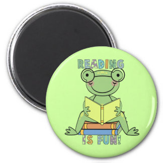 Frog - Reading is Fun Tshirts and Gifts Fridge Magnet