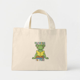 Frog - Reading is Fun Tshirts and Gifts Mini Tote Bag