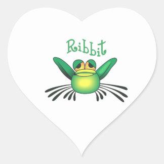 FROG RIBBIT HEART STICKER