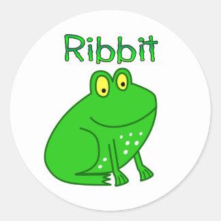 Frog Ribbit Round Sticker