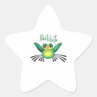 FROG RIBBIT STAR STICKER