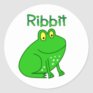 Frog Ribbit Stickers