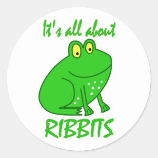 Frog Ribbits Round Sticker