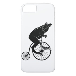 Frog Riding a Bike iPhone 8/7 Case