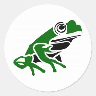 frog round sticker
