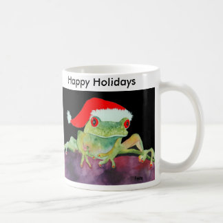 Frog Santa mug