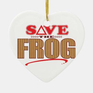 Frog Save Christmas Ornament
