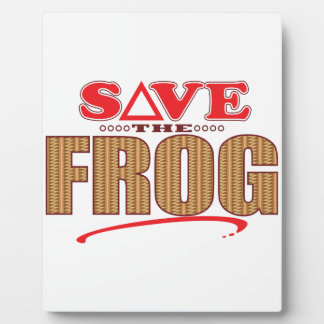 Frog Save Plaque