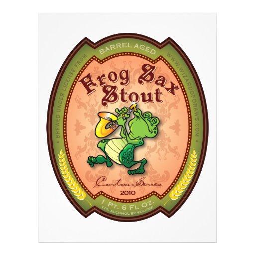 Frog Sax Stout Label Flyer Design