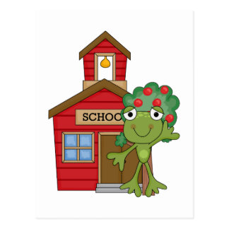 Frog School House Postcard