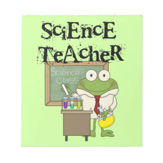 Frog Science Teacher Notepad