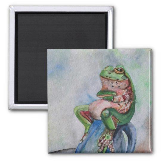 Frog Seed Art 5.1 Cm Square Magnet