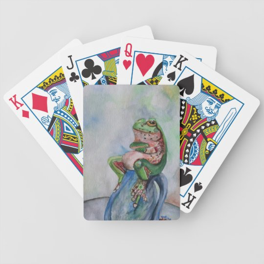 Frog Seed Watercolor Bicycle® Poker Playing Cards