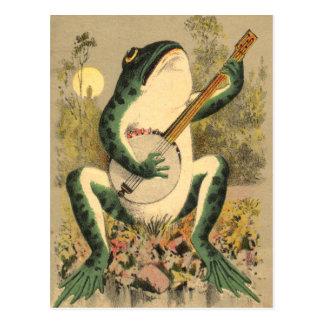 Frog Serenade Postcard