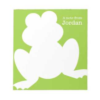 Frog Silhouette Notepad